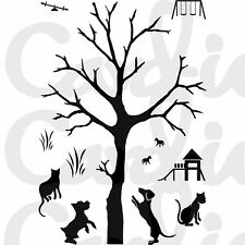 New Card-io Majestix Clear Stamps Walk In The Park