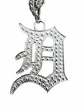 DETROIT LEATHER D ENGLISH INITIAL NECKLACE