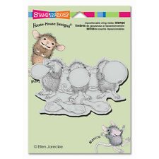 HOUSE MOUSE RUBBER STAMPS CLING BALLOON TRIO STAMP