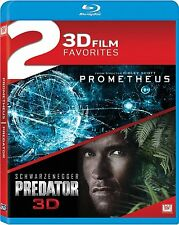 Prometheus 3D / Predator 3D Double Feature [Blu-ray] SEALED