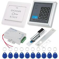 Door Entry Access Control System Kit + Lock + Switch +Power +10x RFID Cards N3MT