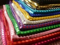 6mm Sequin Shiny Sparkly Material Nylon Polyester Fabric Fancy Dress