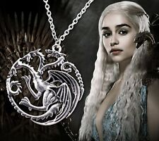 Collier Pendentif Dragons Daenerys Targaryen Game Of Thrones Necklace Son Ice