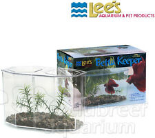 Betta Keeper Large Hex Betta Bowl Aquarium 1 or 2 Fish Kit Lee's Aquarium