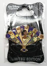 New Walt Disney Imagineering WDI D23 Princess Floral Fan Tiana Pin LE 300