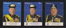 MALAYSIA 2015 SULTAN IBRAHIM OF JOHOR STATE COMP. SET OF 3 STAMPS IN MINT MNH