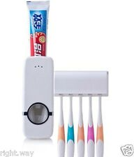 Automatic Toothpaste Dispenser with 5 Toothbrush Holder Squeezer