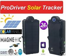 SOLAR Hidden Car & Bike GPS Tracker Magnet tough ProDriver FREE ANDROID IOS APPS