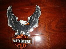HARLEY DAVIDSON VINTAGE LARGE BAR & SHIELD EAGLE DECAL (INSIDE)NEW BEAUTY!