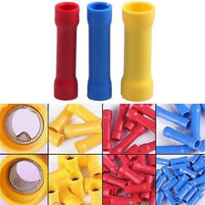 100X Insulated Terminal Butt Connector Electrical Automotive Cables Wire Crimps