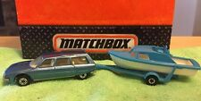 Lot Of 2 MATCHBOX LESNEY SUPERFAST Boat / Trailer & Citroen CX Wagon 1:64 D Cast