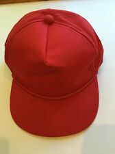 Vintage Blank Red Youngan SnapBack Hat Cap NEW NWT