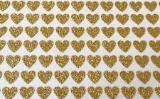 96 Sticky Adhesive Gold HEART Stickers - 7mm 4 Nail Art Wedding Cards Albums
