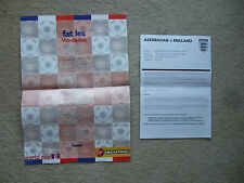 colour poster of lyrics to fat les vin-a-loo 1998 england world cup song