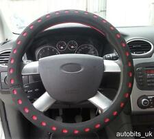 UNIVERSAL RED BLACK COMFY FOAM CAR STEERING WHEEL WHEEL COVER GLOVE PADDED