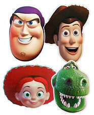 TOY STORY CHARACTERS MULTIPACK - 4 PARTY FACE MASKS - LICENSED PRODUCT