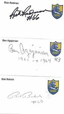 1961-64 Ben Agajanian San Diego Chargers Football Signed Index Card New Mexico