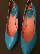 Jeffrey Campbell Size 10 Turquoise Shoes Kitten Heel