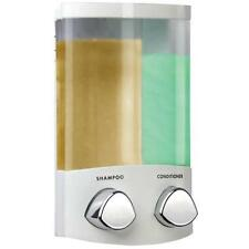 Croydex Euro DUO Wall Mounted Fix Double Soap Shampoo Shower Gel Dispenser White