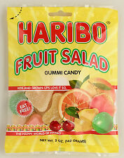 Haribo Fruit Salad Gummi Candy FOUR PACK 5oz Bags FREE SHIPPING