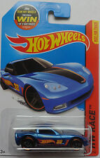 2015 Hot Wheels HW RACE C6 Corvette 131/250 (Blue Version)(Win Card)