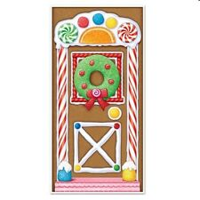Holiday Christmas Party School Sweets Gingerbread Door Wall Decoration