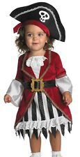 Childs Girls Puny Punk Pirate Princess Costume - Infant Toddler 12-18 Months
