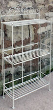 Shabby & Chic Cream Metal 3 Shelf Shelves Rack Bathroom Kitchen Bedroom Storage