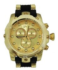Gold Mens Watch Geneva Metal Oversized Boyfriend Designer Fashion Sport