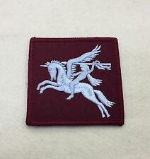 Airborne DZ Flash, Arm Badge, Army, Pegasus, Light Blue, Maroon, Patch, Sleeve