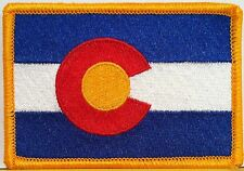 COLORADO Flag Patch With VELCRO® Brand Fastener Military Emblem #9