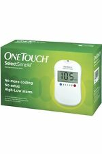 ONE TOUCH SELECT SIMPLE BLOOD GLUCOSE METER (FREE 10 STRIPS)- FREE SHIPPING