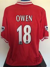Liverpool fc owen 97/98 home football shirt (xl) soccer jersey