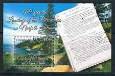 NORFOLK ISLAND PITCAIRNERS 160 YEARS ARRIVAL FINAL ISSUE MNH