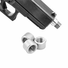 KP2 CustomMuzzleBrakes Glock 9/16-24 40 Stainless Steel Thread Protector KNURLED