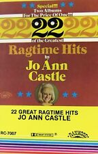 22 Great Ragtime Hits by Jo Ann Castle Audio Cassette 1978 Ranwood Records