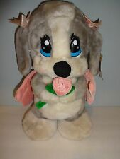 Nanco Honey Sad Sam plush stuffed dog w/ pink angel wings and flower toy