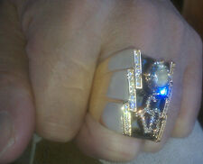 (sz 10, 11, or 12,  1 oz ) PROMISED LAND TCB RING -  Elvis Tribute Ring