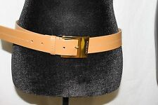 Michael Kors Belt Camel Tan Gold Buckle MSRP $50 Medium NEW