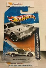 Buick Grand National #139 * WHITE w/ Red Line Tires * 2011 Hot Wheels * N166