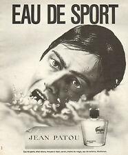 Publicité Advertising 1973  Parfum JEAN PATOU de LACOSTE eau de sport