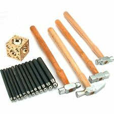 17 Pc Jewelers Hammer Dapping Doming Metal Forming Set Jewelry Repair Tools