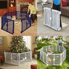 "Baby Play Yard Safety Gate 26"" Fence Child Toddler Portable IndoorOutdoor 6Panel"