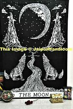 Crying Wolf of The Moon Tarot Tapestry wall hanging Ethnic Bohemian Bed Sheet