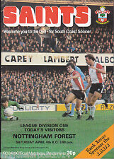 1980/81 SOUTHAMPTON V NOTTINGHAM FOREST 04-04-1981 Division 1 (Very Good)