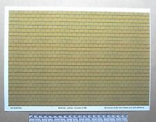 """O gauge (1:48 scale) """"yellow roof tile"""" self adhesive vinyl - A4 sheet"""