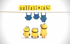 Despicable Me MINIONS Fabric Quilt Block Blanket Sewing Fusing Square #4