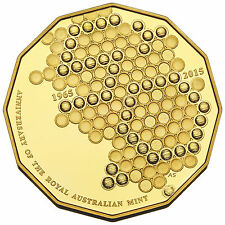 2015 50c Fifty Cent Proof Australian Coin 50th Anniversary of Decimal Currency