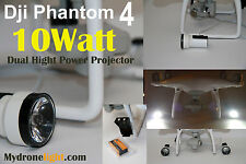 DJI Phantom 4 Dual 10Watt Cree Led Projectors 5000k/9Volt/36mm+RF Remote A2