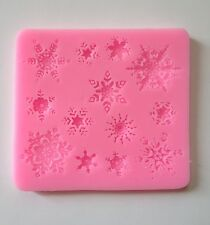 13 Snowflake Soft Silicone Mold Fondant Mat Cake Decorating Cupcake Design Snow